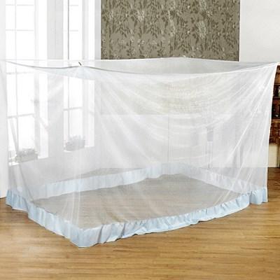 국산 화이트 사각 침대 모기장 야외용 캠핑용 방충망 대형모기장