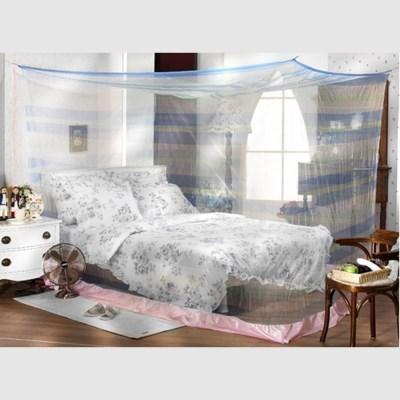 국산 블루 사각 침대 모기장 야외용 캠핑용 방충망 대형모기장