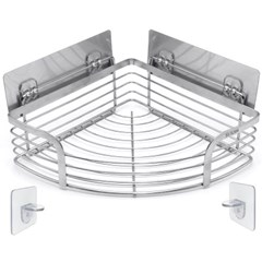 세븐프리 스텐304접착식 4중지지대 욕실코너선반15kg