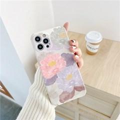핑크바이올렛 플라워 아이폰 카메라보호 슬림 범퍼 케이스