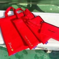 레드 아이패드 갤럭시탭 태블릿 파우치 가방/이름자수 핸드폰가방