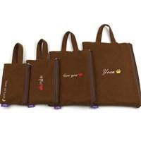 브라운 아이패드 갤럭시탭 태블릿 파우치 가방/이름자수 핸드폰가방