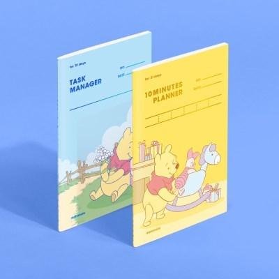 [디즈니] 텐미닛 플래너 + 태스크 매니저 31DAYS - 푸 (언덕 & 목마)