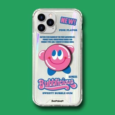 범퍼클리어 케이스 스마트톡 세트 - 풍선껌(Bubble Gum)