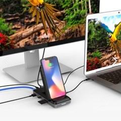 하이퍼 8-IN-1 올인원 태블릿 노트북 무선충전 허브