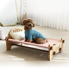 페시앙 클래식 펫 배드 강아지 고양이 프리미엄 원목 해먹 침대