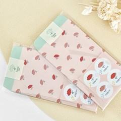 블룸블룸 패턴 봉투 : 핑크(4개입)