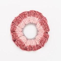 핸드메이드 소프트 셔닐 스크런치 (핑크)