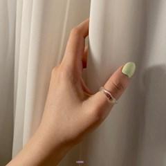 [1+1] 오로라 아크릴 반지