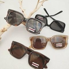 뿔테 기본 호피 사각 가벼운 도수없는 패션 선글라스
