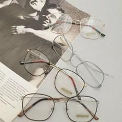 금속테 투명한 도수없는 가벼운 데일리 패션 안경