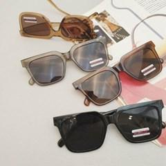 사각 베이지 도수없는 가벼운 데일리 패션 선글라스