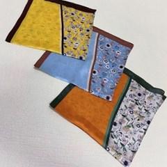 꽃무늬 플라워 실크 가방 쁘띠 데일리 패션 스카프