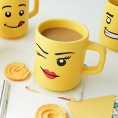 모애 레트로감성 홈카페 디자인 레고 무광 머그컵 마이브릭스D