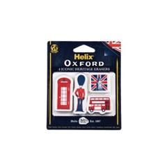 헬릭스 109510 옥스포드 영국 헤리티지 지우개 학용품 문구