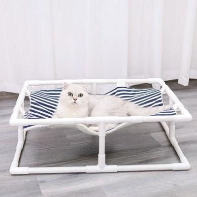 도그웨그 스트라이프 해먹 강아지 고양이 침대