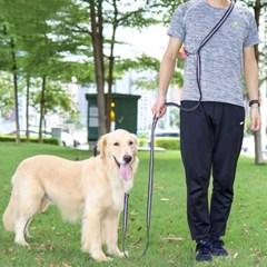 도그웨그 핸즈프리 크로스 리드줄 강아지 산책 목줄