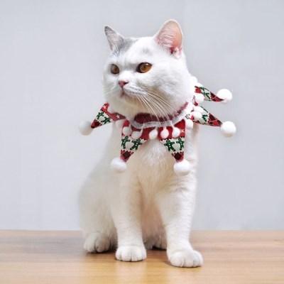 도그웨그 스타폼폼 스카프 고양이 크리스마스 케이프