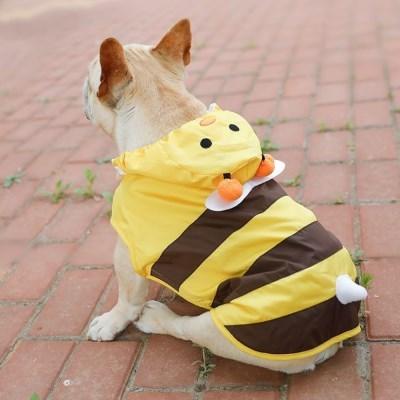 도그웨그 꿀벌 강아지 우비 애견 산책 비옷