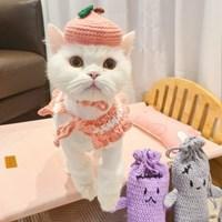개달당 피치피치 케이프&모자 2종 SET _ 강아지모자 고양이케이프
