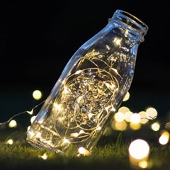 LED고급와이어전구 3m 웜,백색등 점멸가능
