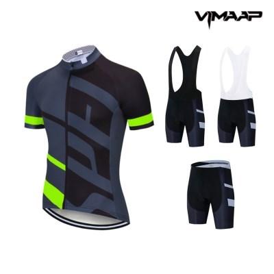 VIMAAP 반팔 져지 싸이클복 자전거의류 - 블랙/그린