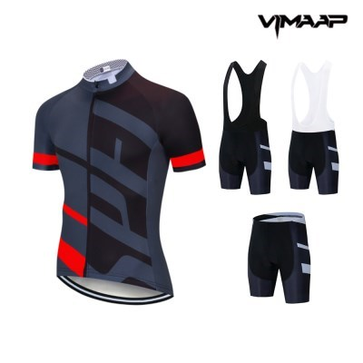 VIMAAP 반팔 져지 싸이클복 자전거의류 - 블랙/레드