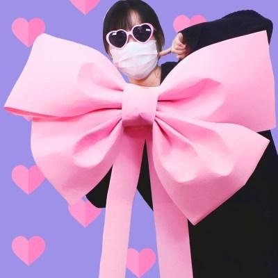 DIY 초대형 리본 (핑크) - 인간화환 기념일 이벤트 선물_(301864916)