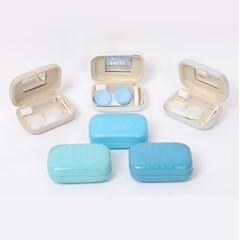 리본 패턴 휴대용 콘택트 렌즈 케이스 렌즈통