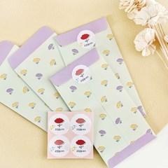 블룸블룸 패턴 봉투 : 민트(4개입)