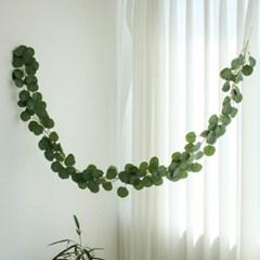 둥근잎 유칼립투스 조화 넝쿨 행잉 가랜드