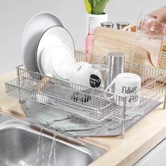 디얼리빙 스텐 식기 건조대 설거지 그릇 물빠짐