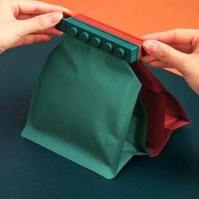 블록 음식물 비닐 봉지 봉투 밀봉 클립 집게 4pc