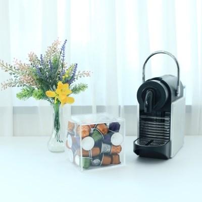 큐브 투명아크릴 커피캡슐 정리보관함
