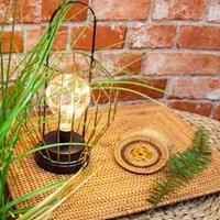 [반짝조명]  홈카페 라탄 직사각 테이블 매트