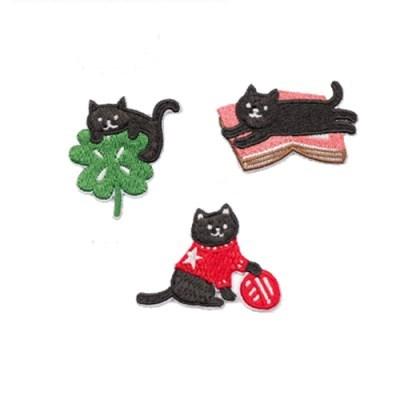 까만고양이 DIY 와펜(3종)