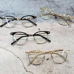 반테 가벼운 도수없는 골드 실버 데일리 패션 안경