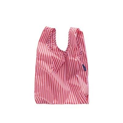 [바쿠백] 소형 베이비 에코백 장바구니 Cerise Stripe_(5995805)
