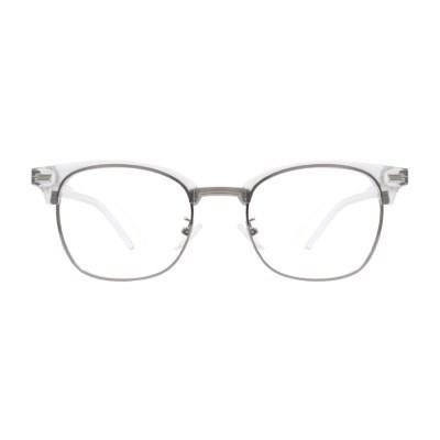 Thelma CRYSTAL 투명 하금테 안경