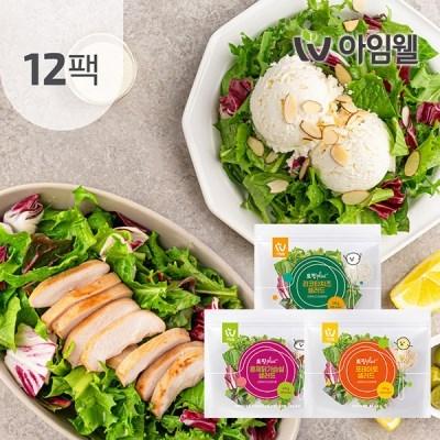 [아임웰] 토핑Plus 샐러드 3종 12팩
