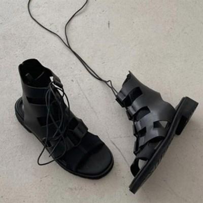 여자 캐주얼 로우힐 데일리 여름 스트랩 발목 샌들