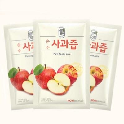 상상공간 국내산 순수 사과 착즙 사과즙 사과주스 30포
