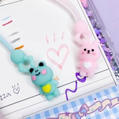 [맙소사잡화점] 토끼 개구리 인형뽑기 젤 펜