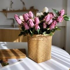 빈티지 장미조화 꽃다발 로즈부쉬 인테리어 엔틱 플라워