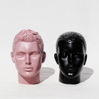 지엔 국산 남자 머리카락 얼굴 모형 두상 마네킹 FRP 헤드