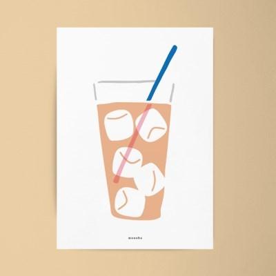 아이스티3 M 유니크 디자인 인테리어 포스터 카페 여름
