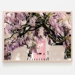런던 위스테리아 꽃 포스터