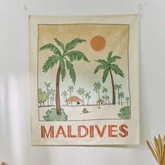몰디브 선셋 패브릭포스터