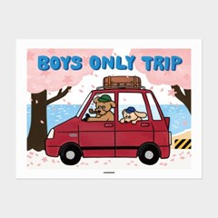 [카멜앤오아시스] Boys Only Trip 아빠와 아들의 벚꽃 여행 포스터