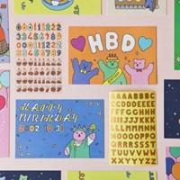 젤리 베어 생일 카드 세트